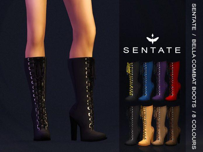 Сапоги с шнуровкой от Sentate для Sims 4