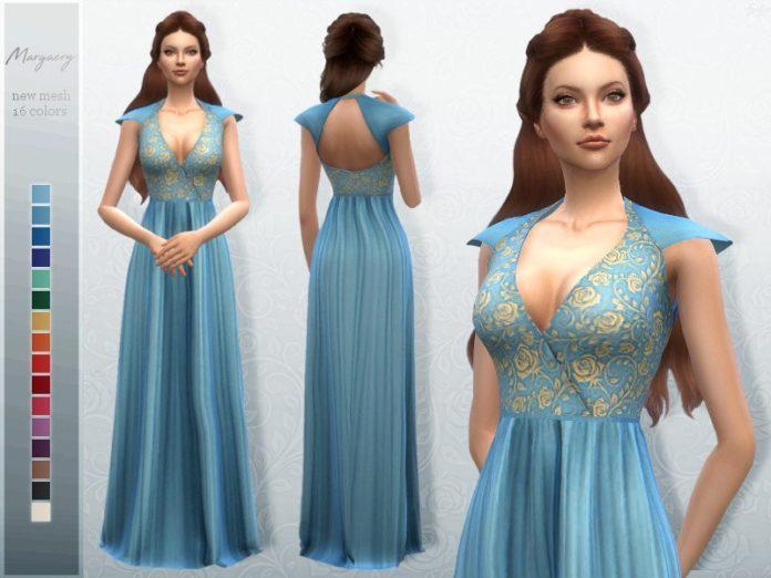 Платье Маргери Тирелл от Sifix для Sims 4