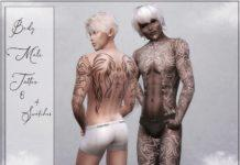 Мужская татуировка на все тело от Reevaly для Sims 4