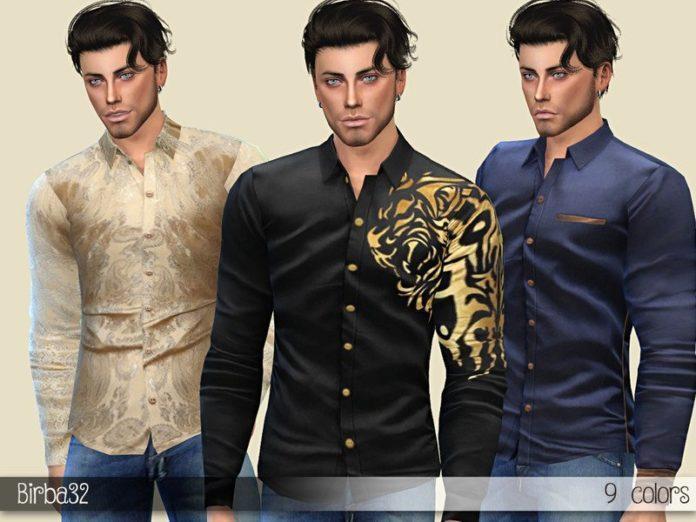 Мужская рубаха Thomas от Birba32 для Sims 4