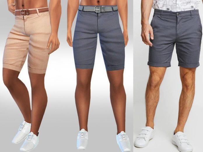 Мужские шорты Турбулентность от Saliwa для Sims 4