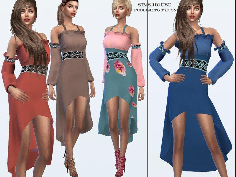 Сарафан Дриада от Sims House для Sims 4