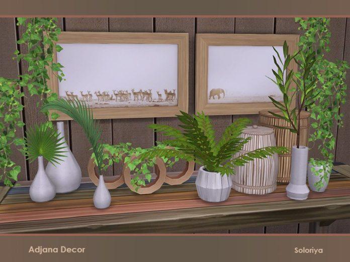 Набор растений и декора Adjana от soloriya для Sims 4