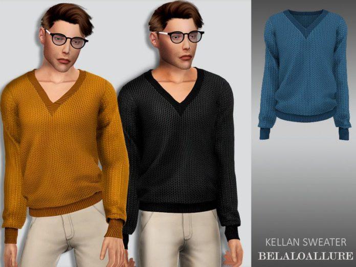 Мужской свитер Kellan от belal1997 для Sims 4