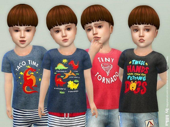 Футболки для малышей от lillka для Sims 4