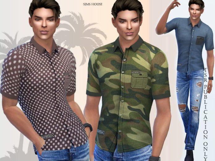 Мужская рубашка Сафари от Sims House для Sims 4