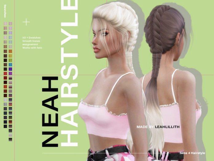 Женская прическа Ниа от Leah Lillith для Sims 4