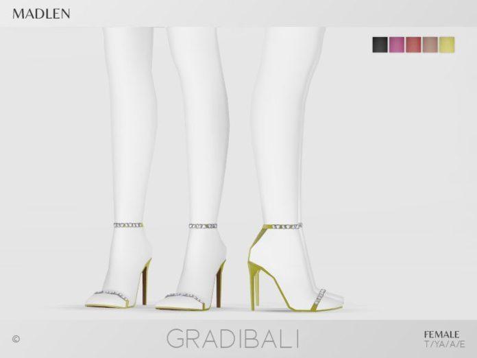 Босоножки Gradibali от MJ95 для Sims 4