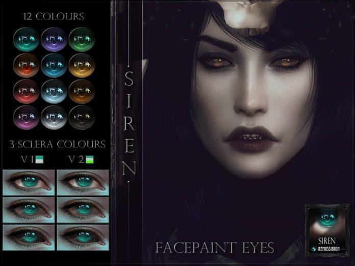 Глаза Сирена от RemusSirion для Sims 4