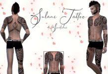 Мужские татуировки Sulani от Reevaly для Sims 4