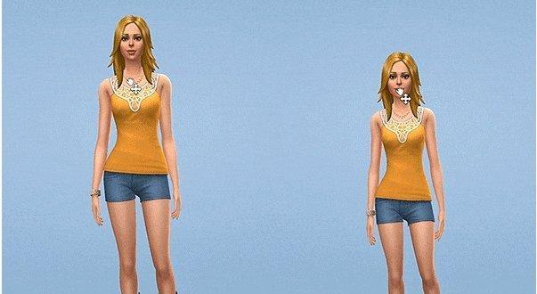 Слайдеры роста, длины шеи и формы бёдер от luumia для Sims 4