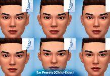 Слайдеры для ушей, асимметрии лица и размера пальцев от Lumia Sims для Sims 4