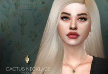 """Подвеска """"Кактус"""" от Pralinesims для Sims 4"""