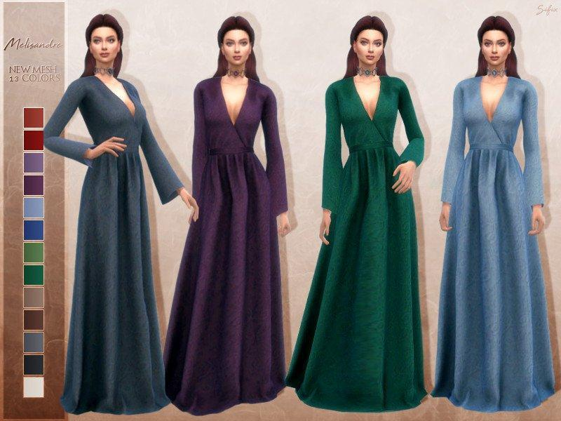 Платье Мелисандры от Sifix для Sims 4