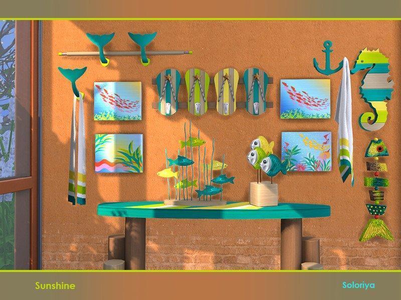 "Набор декора ""Sunshine"" от soloriya для Sims 4"