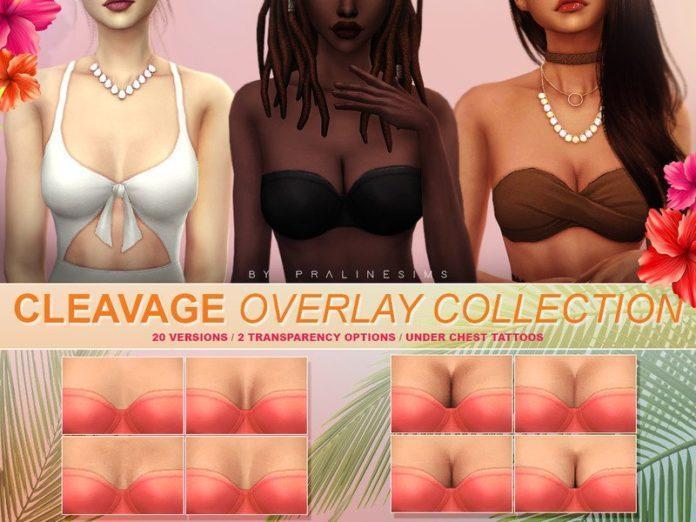 Реалистичное декольте от Pralinesims для Sims 4