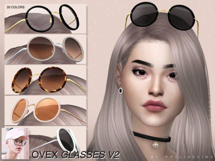 Круглые очки на лоб от Pralinesims для Sims 4