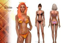 Купальник Богиня от Suzue для Sims 4