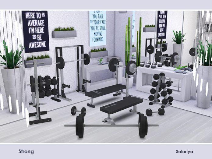 Набор декораций для спортивного зала от soloriya для Sims 4