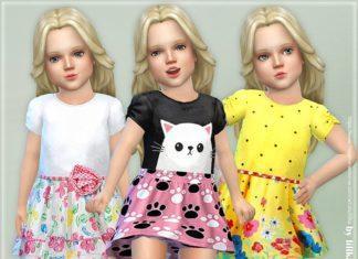 Летнее платье для девочки от lillka для Sims 4