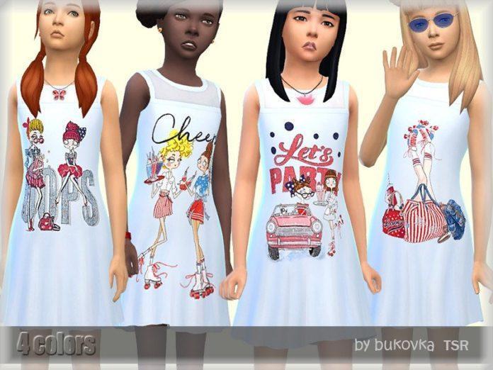 Платье для катания на роликах от bukovka для Sims 4