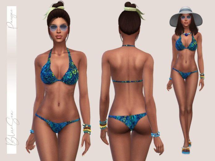 Бикини BlueSea от Paogae для Sims 4