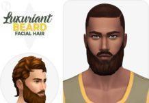 Пышная борода от Nords для Sims 4