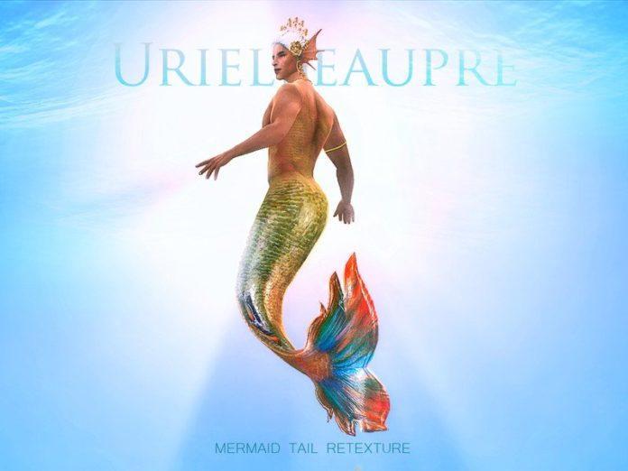 Хвост русалки мужской - перекраска от Urielbeaupre для Sims 4