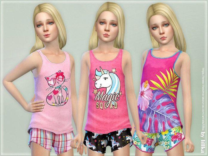 Летний топ для девочек от lillka для Sims 4