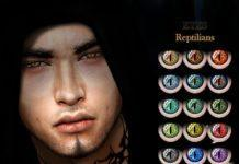 Линзы Рептилия от ANGISSI для Sims 4