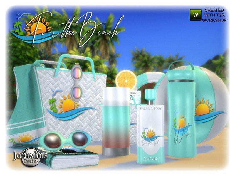 Набор пляжных аксессуаров от jomsims для Sims 4