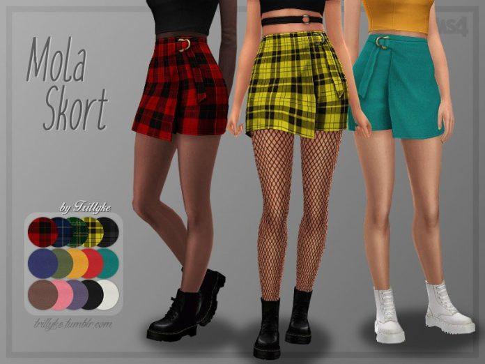 Шорты юбка от Trillyke для Sims 4