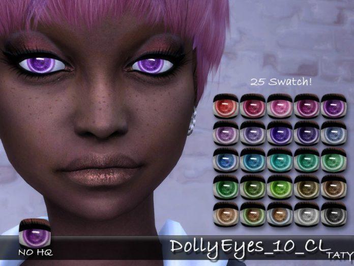 Кукольные глаза от tatygagg для Sims 4