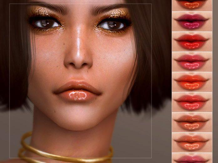 Глянцевая помада от Screaming Mustard для Sims 4