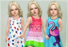Яркий летний сарафан от lillka для Sims 4