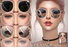 Женские очки от S-Club для Sims 4