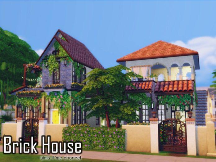 Кирпичный дом от sims it'me для Sims 4