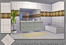 """Плитка """"Золотое дерево"""" от matomibotaki для Sims 4"""