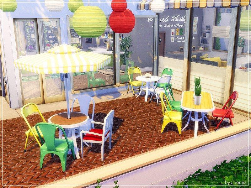 "Бар ""Three Fruits"" от Lhonna для Sims 4"
