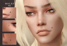 Родинки для лица от -Merci- для Sims 4