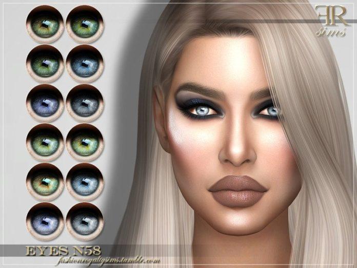 Глаза №58 (голубые и зеленые оттенки) от FashionRoyaltySims для Sims 4