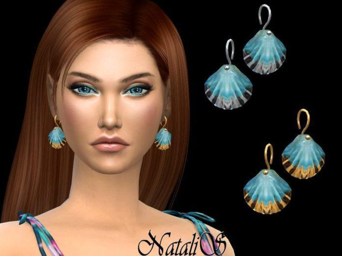Серьги в форме ракушек от NataliS для Sims 4