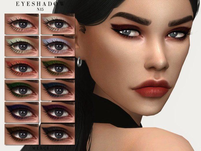 Тени для век №15 от -Merci- для Sims 4