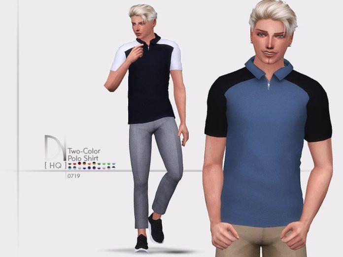 Футболка-поло для мужчин от DarkNighTt для Sims 4