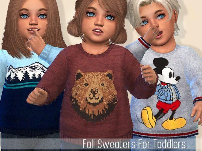 Осенний свитер для малышей