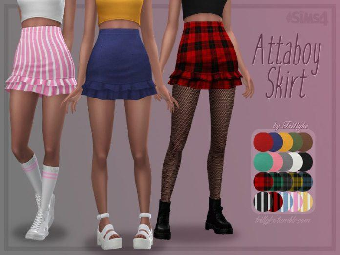 Юбка Attaboy от Trillyke для Sims 4
