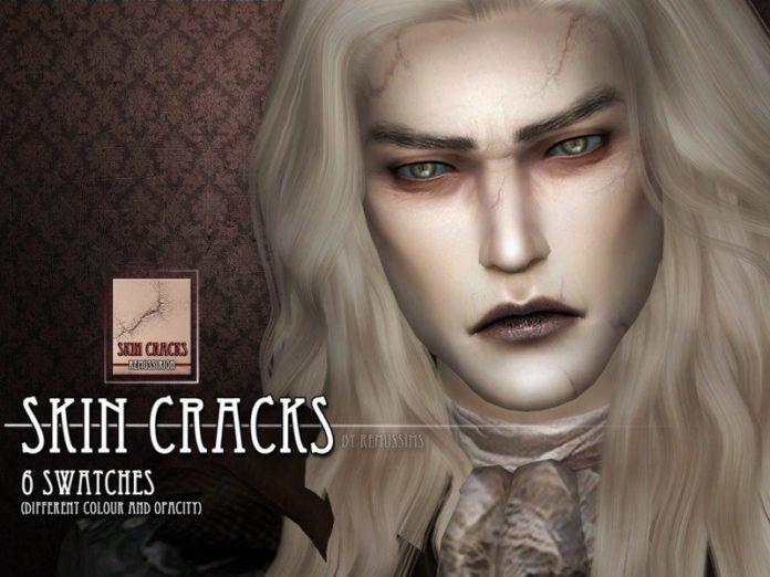 Трещины на коже от RemusSirion для Sims 4