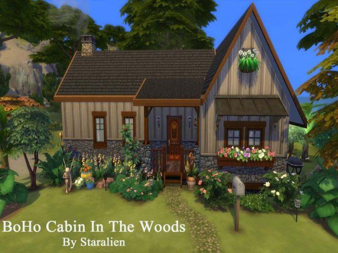 Хижина в лесу от staralien для Sims 4