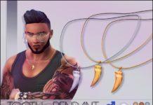 """Мужская подвеска """"Клык"""" от mathcope для Sims 4"""