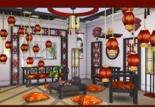 """Гостиная """"Chen"""" от soloria для Sims 4"""